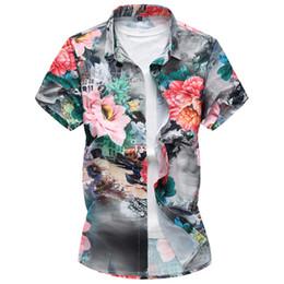 917c331fe9a Plus Size 7xl men floral shirt Summer Fashion Men s Shirt Slim Fit Men  Short Sleeve Floral Shirts Mens Clothes Trend Casual