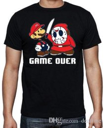 super mario clothing 2018 - T Shirt Hot Sale Super Mario Jason Funny Game Over Friday 13th Horror Movie 80's Black T Shirt New Arrivals Casual