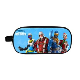 China 2018 18 Styles Fortnite Pencil Bag Cartoon Pencil Cases Stationery Storage Bag School Office Outdoor Bags Kids Gift Purse cheap sports stationery suppliers