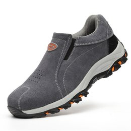 $enCountryForm.capitalKeyWord UK - large size men Genuine leather slip on four seasons Boots Work Safety Shoes Steel Toe Cap For Anti-SmPuncture Proof Footwear