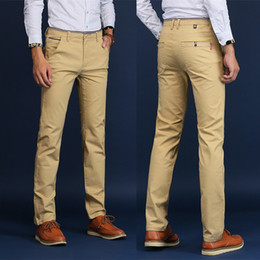 $enCountryForm.capitalKeyWord Australia - Mens Stretch Casual Dress Pants Classic Quality Business Trousers White Beige Black Blue Size Zipper Fly