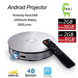 $enCountryForm.capitalKeyWord NZ - Android 6.0 Mini DLP Projector Rockchip RK3368 Octa Core 2GB 16GB Bluetooth Portable Beamer with 2.4G 5G Wifi D8S 4K TV Box