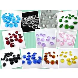 200 PCS 12mm Anéis de Salto de Prata 200 PCS 2 Buraco 14mm K9 Cristal Octagon Beads Lustre Prisma Peças de Decoração Para Casa em Promoção
