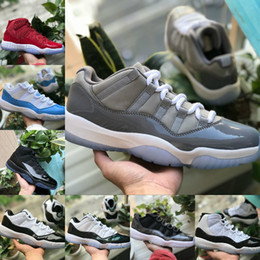 buy popular 5a12e 374b6 2018 nike air jordan 11 air max michael jordans retro shoes New 11 Prom  Night Cap et robe Gym Red Black White Cool Grey Midnight Navy Concord  basket ...