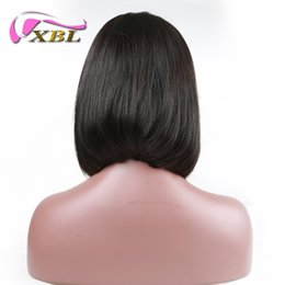 Remy bob wigs online shopping - xblhair lace front bob wigs human hair price with middle part straight human hair wig