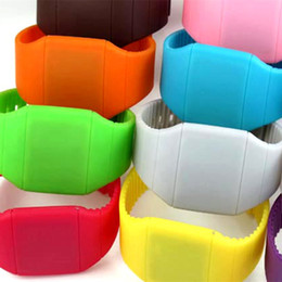 $enCountryForm.capitalKeyWord NZ - Low price LED light, silicone electronic watch, ultra-thin touch screen LED gift bowl watch wholesale spot.