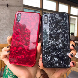 Chinese  Tempered Glass Cases for iphone xs max xr x 6s 7 8 plus Case Luxury Bling Shell Soft Frame Hard Back Cover for iphone X 6 6s Coque Case P5 manufacturers