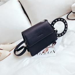 b7d606b6f37 New Brand Flap Bag PU Leather Mini Causal Handbag Rivet Lady Shoulder Bag  Women Satchel Shopping Purse Messenger Crossbody Bags