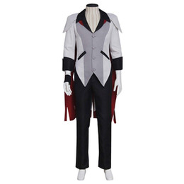 female grey suits UK - Men's Suit for RWBY Qrow Branwen Cosplay
