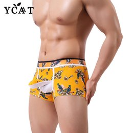 6da1b4c0eebc5d YCAT new Mens print Underwear Male Cool Sexy Elephant Nose Big Pouch Boxer  breathable Shorts Panties Gay Cheap Men Underwear