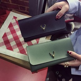 $enCountryForm.capitalKeyWord Australia - Fashion Deer Head Long Korean Style Wallet for Women Hand Bag Multi-color Classic Coin Purse Holder Organizer Pocket