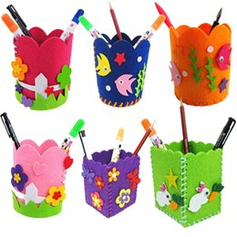 Kids crafts Kits online shopping - Creative DIY Craft Kit Handmade Pen Container Pencil Holder Kids Craft Toy Kits Children Educational toys Gift Color by Random