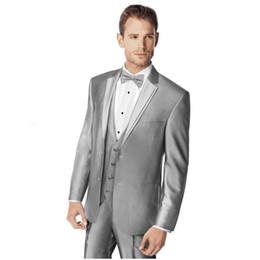 $enCountryForm.capitalKeyWord NZ - Male men Suit Notched Lapel Two Button Light Gray Groomsman Tuxedos Wedding Suits mens suits 2018 ( jacket+Pants+vest+tie)