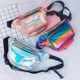 $enCountryForm.capitalKeyWord NZ - Fashion Women Laser Fanny Waist Pack Crossbody Bag Unisex Waist Belt Bag PU Hologram Travelling Cashier Mobile Phone Handbags Free Shipping