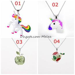 $enCountryForm.capitalKeyWord NZ - INS New Unicorn Chunky Necklaces Necklace with Unicorn Pendants Chunky Beads Necklace for Fashion Diy Kids Handmade Jewelry
