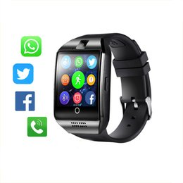 China Bluetooth Smart Watch Men Q18 With Touch Screen Big Battery Support TF Sim Card Camera for Android Phone Smartwatch supplier touch screen phone watches suppliers