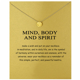 Spirit Pendants Australia - Dogeared Choker Necklaces With Card Gold Silver Sports Medal Pendant Necklace For Fashion women Jewelry mind,body and spirit