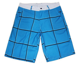 mens casual beach trunks UK - Brand New Plaid Leisure Shorts Elastane Mens Swim Trunks Quick Dry Surf Pants Beachshorts Board Shorts Bermudas Shorts Beach Pants Swimtrunk