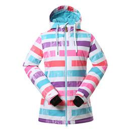 $enCountryForm.capitalKeyWord Australia - GSOU SNOW Winter Women's Ski Suit Single Double Board Waterproof UV Protection Windproof Warm Snow Jacket Ski Coat Size XS-L