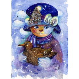 $enCountryForm.capitalKeyWord UK - Diamond Embroidered Snowman Duck 5D DIY Diamond Painting Cross Stitch Art Gift Full Square Round Mosaic Pattern Decoration Set