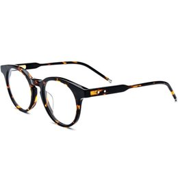 44bcde24707 Unisex vintage retro roUnd frame online shopping - Men Vintage Optical Glasses  Frame Brand Designer Plank