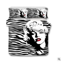 Chinese  US AU Size 3pcs Luxury Bedding Set Duvet Marilyn Monroe Skull Bed Cover Set King Sizes Butterfly Duvet Cover Set Bedding Supplies manufacturers