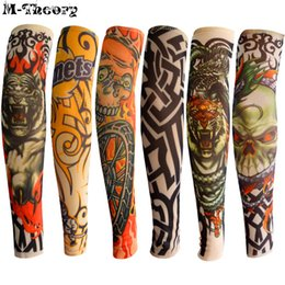 Wholesale tattoo leggings resale online - 6 Kid Size Tattoo Sleeve Arm Stockings Leggings Cool Rock Style D Tatoo Boys Girls Baby Shower Travel Wearings