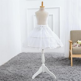 $enCountryForm.capitalKeyWord Australia - New Short Petticoats White Wedding Accessories Kids little Girls 2 Hoops Children Crinoline Underskirt for Flower Girl Dress