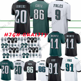 11 Carson Wentz Philadelphia Eagle jersey 9 Nick Foles 86 Zach Ertz 27  Malcolm Jenkins 20 Brian Dawkins Jerseys t shirt ff23b35fe