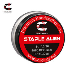 Wire fans online shopping - Coilology Staple Alien Coil Set Ni80 ohm SS316L0 ohm High Quality E cig Coil Wire for DIY Fans