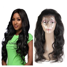 22inch hair weave Australia - High Quality Brazilian Body Wave 360 Lace Frontal Peruvian Malaysian Indian Virgin Human Hair Weave 10-22inch Natural Black Color