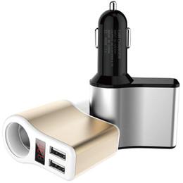 Car 12v Usb Australia - 3.1A Dual USB 12V 24V Car Charger Adapter Cigarette Lighter Socket LED Digital Voltmeter Ammeter Monitor