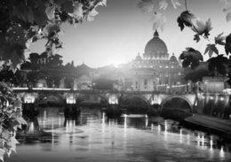 $enCountryForm.capitalKeyWord NZ - Rome Italy Landscape Black & White Art Silk Poster 24x36inch 24x43inch