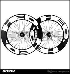 Fixed Gear Track Australia - free shipping 25mm width HED paint 88mm Depth fixed gear carbon wheelset full carbon 700C road track bike bicycle wheels