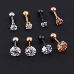 Top piercings online shopping - Earrings Mens Medical titanium steel zircon earrings Size mm Star Crystal Cartilage Earring ear Piercing Top Body Jewelry Men Earring