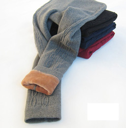 Gray Cotton Leggings Australia - Winter New Girls twist stripe leggings children velvet thicken pants kids elastic princess bottom children warm tights A01246