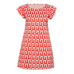 short red dress size xl 2019 - Women Casual Summer 2018 Dress Plus Size Geometric Print Cape Short Sleeve Round Neck Pullover Color Block Fashion Prepp