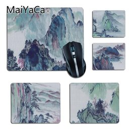 Rubber Art NZ - MaiYaCa Boy Gift Pad Chinese style art Rubber Pad to Mouse Game DIY Carpet Top Selling Customized Non-Slip Rubber mouse