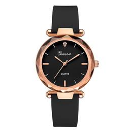 Discount geneva gold watch - Luxury Women Bracelet Watches Fashion Women Dress Clock Ladies Geneva Silica Band Analog Quartz Wrist Watch