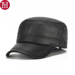 927246fcd98 Fall Winter Men Real Leather Earlap Hats New Hot Male Real Natural Cowhide  Leather Baseball Caps Outdoor Cow Cap