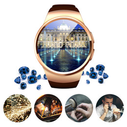 Bluetooth Smart Watch Sim Australia - Colorful Surface KW18 Bluetooth Smart Watch 1.3 inches IPS Round Touch Screen Water Resistant Smartwatch Phone with SIM Card