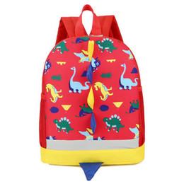 $enCountryForm.capitalKeyWord Canada - 50pcs lot Dinosaur Print Backpack For Boys Children backpacks kids kindergarten Small Girls Animal School Bags Backpack
