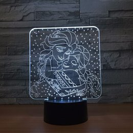 batteries usb mouse Canada - Frozen Girls 3D Optical Illusion Lamp Night Light DC 5V USB Powered Battery Wholesale Dropshipping Free Shipping