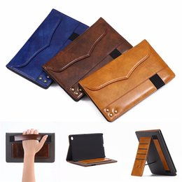 China Wallet Leather Australia - PU Leather Tablet Bag for Samsung GALAXY Tab A 8.0 T380 7.0 T280 10.1 T580 Wallet Cover Folding Folio Case