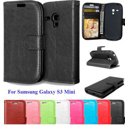cell phones s3 UK - i8190 Cases For Samsung Galaxy S3 Mini Cell Phone Case With Card Holder Stand PU Leather Book Cover For Galaxy S3Mini Coque