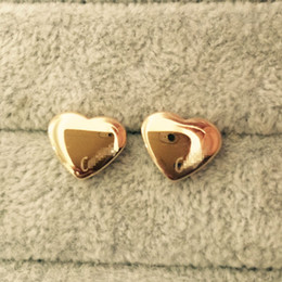 Fashion studs earrings online shopping - High Quality Famous Brand Heart Love Design Jewelry Fashion L Stainless Steel Style Luxury Gold Plated Earrings Stud For Men Women