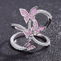 Great Bows Australia - Explosive butterfly split shank ring female wedding ring bow new best selling jewelry