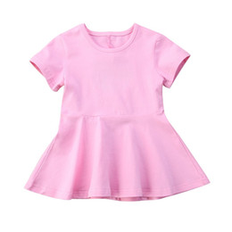 $enCountryForm.capitalKeyWord UK - Toddler Kids Baby Girl Cotton Solid color Short Sleeve Backless Twins Matching Party Dress Sundress 0-4M