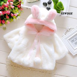 newborn baby clothes for winter 2019 - NEW Children's Winter Christmas warm tops soft Plush rabbit-ears hoodies newborn kids cute cosplay clothing for 3-2