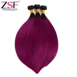 "$enCountryForm.capitalKeyWord UK - Straight Ombre Bundles Hair 10""to 30"" Brazilian Human Hair Weave Extensions 1b Purple Color Ombre Braiding Hair 3 Bundles"